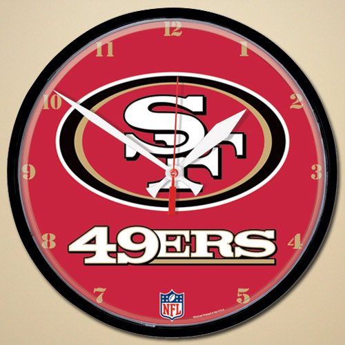 San Francisco 49ers Round Clock