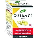 Shrey's Cod Liver Oil For Immunity - 100 Softgels