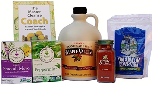 Maple Valley 10 Day Organic Master Cleanse Lemonade Detox/ Diet Kit with Book The Master Cleanse Coach (Master Cleanse Tea compare prices)