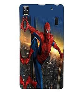 ColourCraft Superhero Design Back Case Cover for LENOVO K3 NOTE