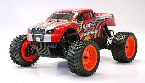 REMOTE CONTROL RC RADIO CONTROL MONSTER TRUCK 1/16 2.4Ghz Exceed RC ThunderFire Nitro Gas Powered RTR Off Road Truck (COLOR VARIES SENT AT RANDOM)-