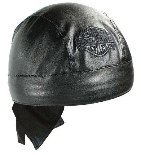 Harley-Davidson Bar & Shield Black Faux Leather Head Wrap HW30230