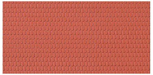 52216.0 - Dachplatten Biberschwanz, 10 x 20 cm Struckturfläche, bunt