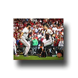 Autographed Brian Wilson 8-by-10 inch unframed 2010 World Series celebration photo (MLB Authenticated)
