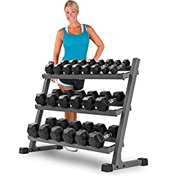 XMark 4 ft. Three Tier Dumbbell Rack XM-3107.1