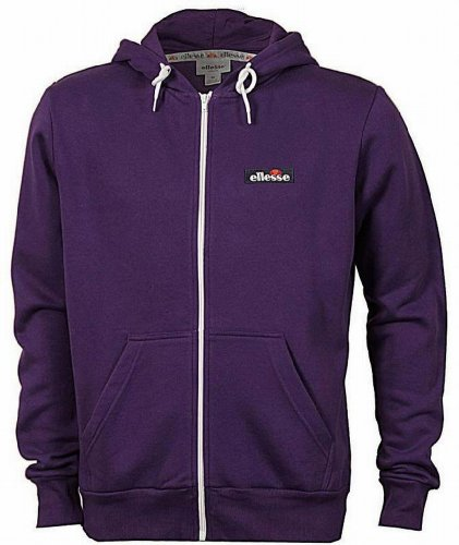 Ellesse Formation Men's Hoodie Hoody Full Zip Track Top Sweatshirt purple Medium