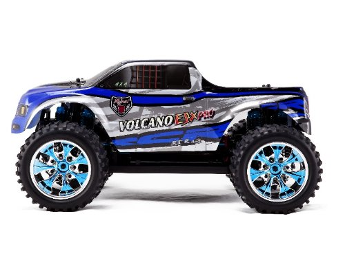 VOLCANO EPX PRO * 1/10 Scale RC * Electric Brushless Monster Truck * By Redcat Racing * Black & Blue