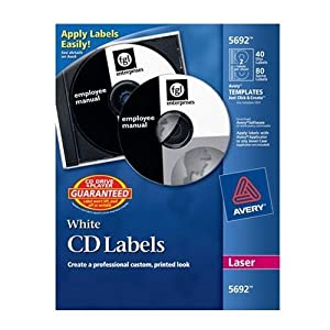 Avery dennison 5692 cd dvd labels for laser for Avery dennison labels templates