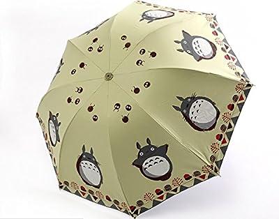 Mein Nachbar Totoro Nette Karikatur Sonnenschirme Regenschirm Drei Falten Regenschirm UV Super-Sonnenschirme Sonnen girls umbrellas [Can i do best] von Can i do best auf Gartenmöbel von Du und Dein Garten