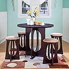 K & B Furniture Backless Pub Chair - Espresso - Set of 2