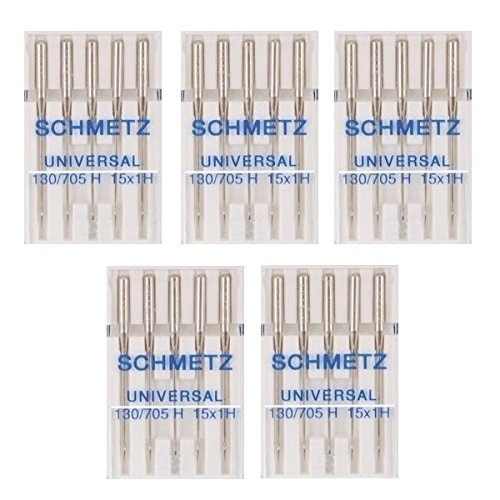 25 Schmetz Universal Sewing Machine Needles 130/705H 15x1H Size 75/11 (Necchi Sewing Machine Needles compare prices)