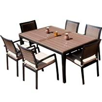 Big Sale RST Outdoor OP-ALTS7-ZEN Dining Set Patio Furniture, 7-Piece