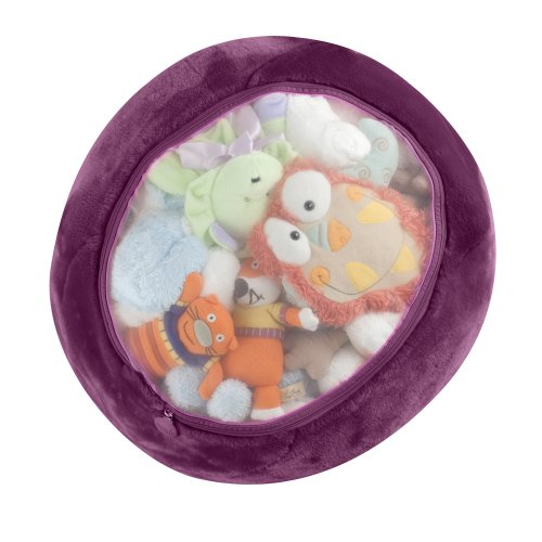 Boon Animal Bag Stuffed Animal Storage, Grape