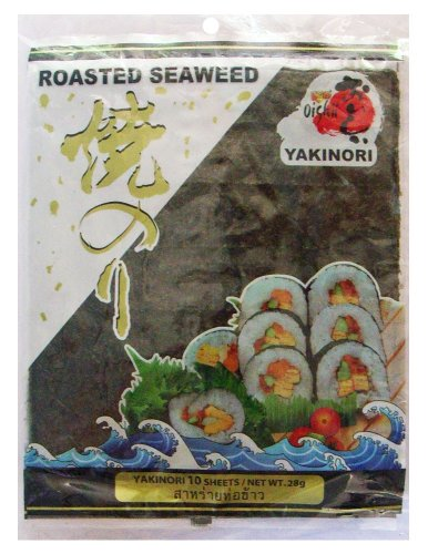 Roasted Nori Seaweed Yakinori Brand 30 Sheets 84g - Ideal for Making Sushi