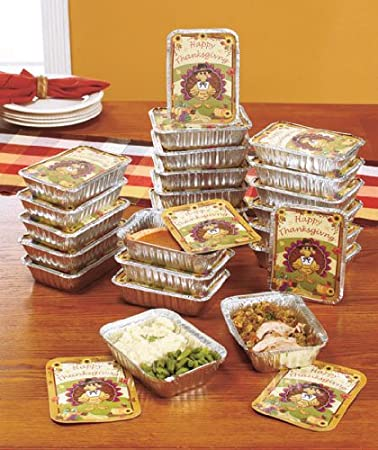 Set of 24 Thanksgiving Leftover Containers Holiday Leftovers in Style