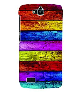 Fuson 3D Printed Coloured Wood Pattern Designer Back Case Cover for Huawei Honor Holly - D594