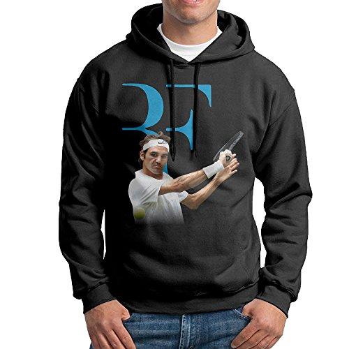 tennis-player-roger-federer-black-mans-black-long-sleeve-hoodie-outwear