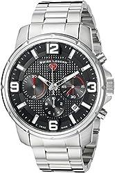 Swiss Legend Men's 16525SM-11 Legasea Analog Display Swiss Quartz Silver Watch