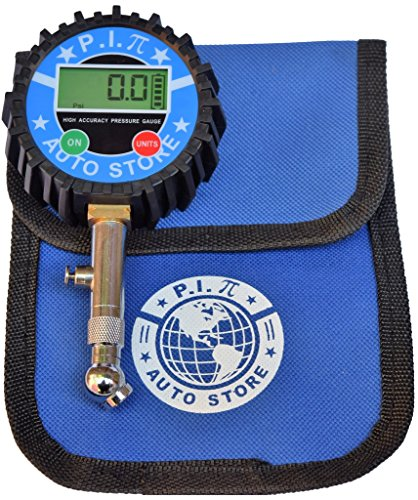 P.I. Auto Store Premium Digital Tire Pressure Gauge. 200Psi. Heavy Duty, highly accurate. With storage pouch. Best for Car, Truck, ATV, RV, Motorcycle & SUV. (The Rv Store compare prices)