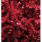 1/4 LB Crinkle Cut Paper Shred - Red - Gift Basket Filling