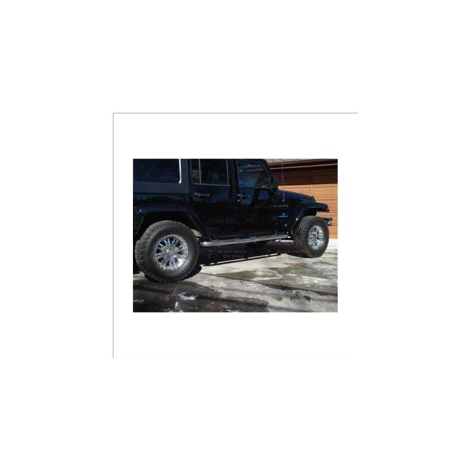 Black Horse Stainless Steel Nerf Bars 07 11 Jeep Wrangler