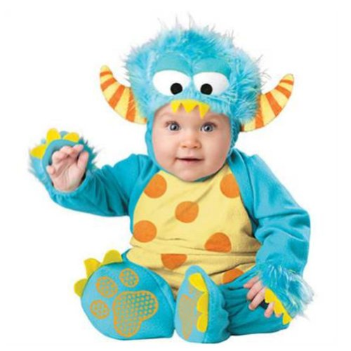 Boo Infant Boys & Girls Plush Blue Polka Dot Baby Monster Costume