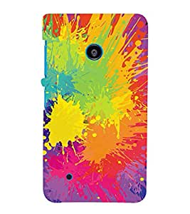 MODERN ART SPASHED PAINTS PATTERN 3D Hard Polycarbonate Designer Back Case Cover for Nokia Lumia 530 :: Microsoft Lumia 530