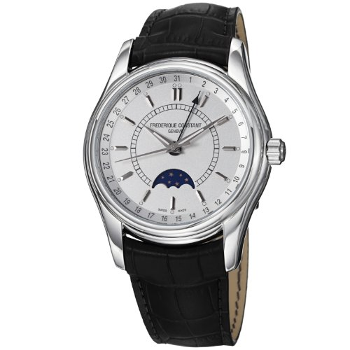 Frederique Constant Men's FC-330S6B6 Index Black Leather Strap Watch