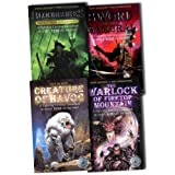 Steve Jackson and Ian Livingstone Fighting Fantasy Gamebooks 4 Books Collection Pack Set RRP: �14.97 (The Warlock of Firetop Mountain, Creature of Havoc, Bloodbones, Sword of the Samurai)by Steve Jackson