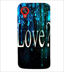 PrintDhaba Quote D-3443 Back Case Cover for LG GOOGLE NEXUS 5 (Multi-Coloured)