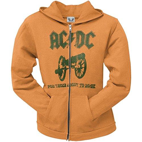 AC/DC -  Felpa con cappuccio  - Donna arancione X-Large
