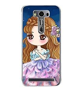 Cute Anime Girl 2D Hard Polycarbonate Designer Back Case Cover for Asus Zenfone Selfie ZD551KL