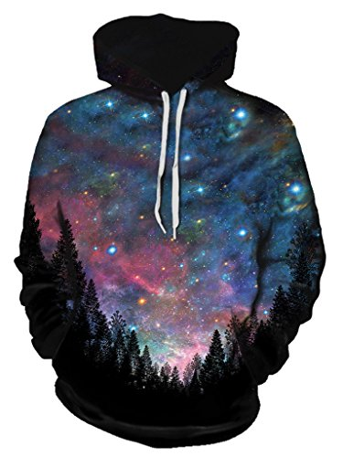 Gratefully Dyed Galactic Valley Hoodie – Premium All Over Print Graphics – XX-Large