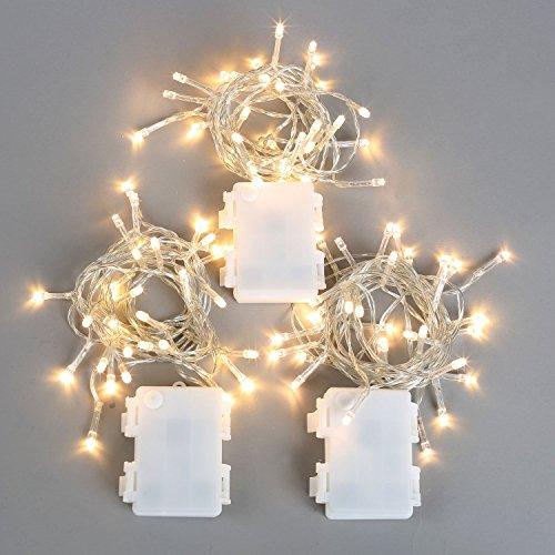 40% OFF! Set of 3 Warm White 11 ft. Vivid 30 LED Battery String Lights- Batteries Included