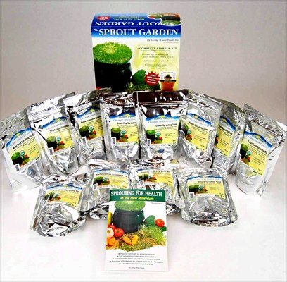 Deluxe Sprouting Starter Kit w/ 12 Lbs Organic Seed - Grow Sprouts: 3 Tray Sprout Garden, Seeds: Alfalfa, Radish, Clover, Mung Bean, Garbanzo Bean, Green Pea, Crunchy Lentil Fest & More (Brocolli Baby Food compare prices)