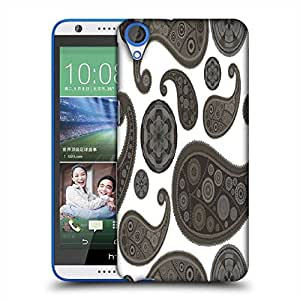 Snoogg Grey Pattern Designer Protective Phone Back Case Cover For HTC Desire 820