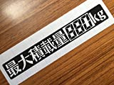 Amazon.co.jp【font-016-1】ステンシル書体 剥がして数字を作成 最大積載量880kg【黒】3 x 20cm