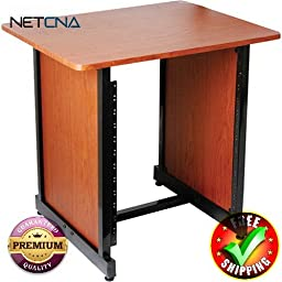 WSR7500RB Rack Cabinet (Rosewood with Black Steel) With Free 6 Feet NETCNA HDMI Cable - BY NETCNA