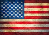 USA - Vintage Flag - Sticker Aufkleber - Grösse ca.