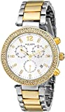 Akribos XXIV Women's AK529TT Diamond and Crystal Accented Swiss Quartz Crystal Chronograph Watch