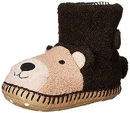 Hanna Andersson Bear 1 Slipper (Toddler/Little Kid/Big Kid), Brown, 11/12 M US Little Kid