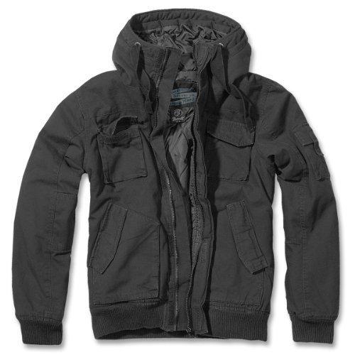 Brandit Bronx-Men's-Giacca invernale con cappuccio-Giacca Bomber B-3107 nero XL
