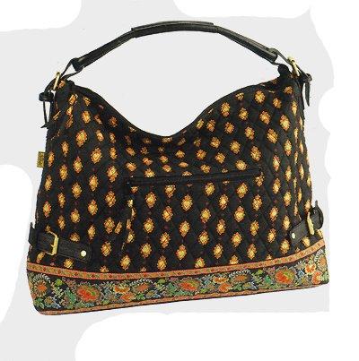 Maggi B French Country Ebony Folklore Large Hobo Tote Handbag Fall