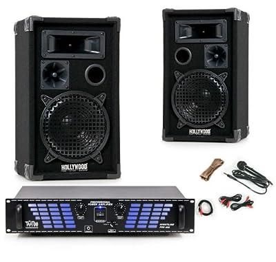 1200W PA Party Musikanlage Lautsprecher Boxen Kabelset Endstufe Verstärker DJ-488 von etc-shop bei Reifen Onlineshop