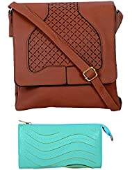 SRI Imported Fancy Designer Combo Of Handbag With Clutch For Girls And Women(Clutch Colour May Vary) - B01JZCR8OY