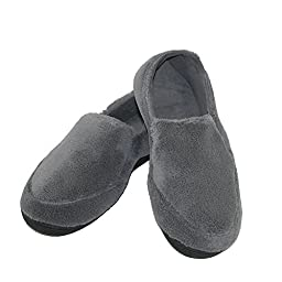 Isotoner Men\'s Microterry Slipper (Medium / 8-9 D(M) US, Black)