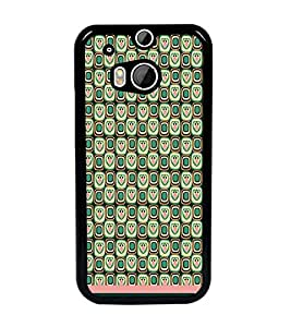 PrintDhaba Owl Pattern D-1646 Back Case Cover for HTC ONE M8s (Multi-Coloured)