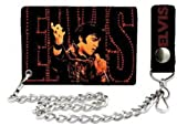Elvis Presley The King of Rock Trifold Wallet with Chain Amazon.com