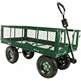 """Utility Garden Cart 48""""x 24"""" Heavy Duty Flatbed Yard Wagon great for Landscaping w/ Removable Sides 1550 lb Max Capacity"""