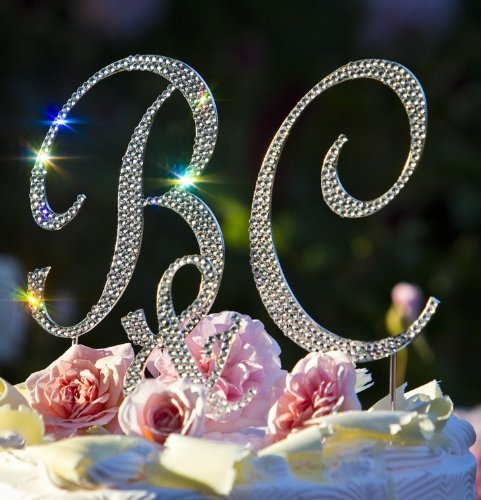 Wedding Cake Toppers Monogram Crystal Wedding Cake Toppers